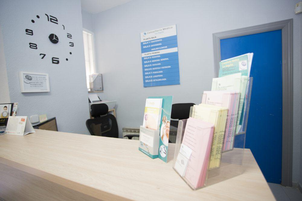 recepción consultorio